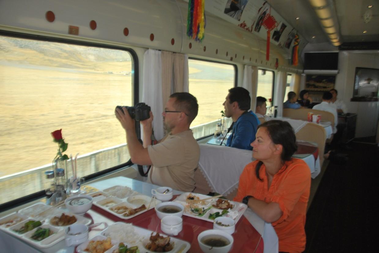 pekin lhasa pociąg restauracja