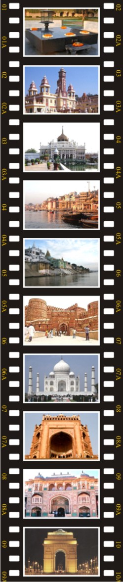 Delhi, Lucknow, Varanasi, Agra, Jaipur, Delhi