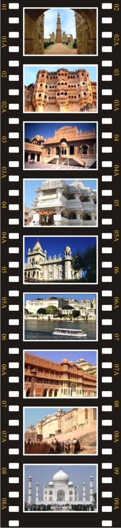 Delhi, Jaisalmer, Jodhpur, Udaipur, Jaipur, Agra, Delhi
