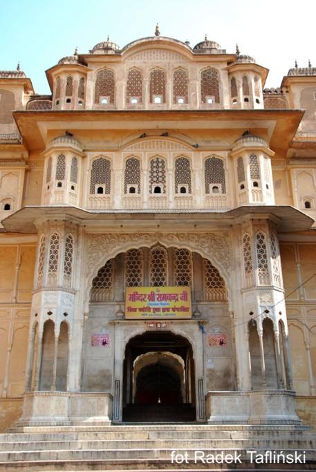 Pałac w Dżajpur w Indiach