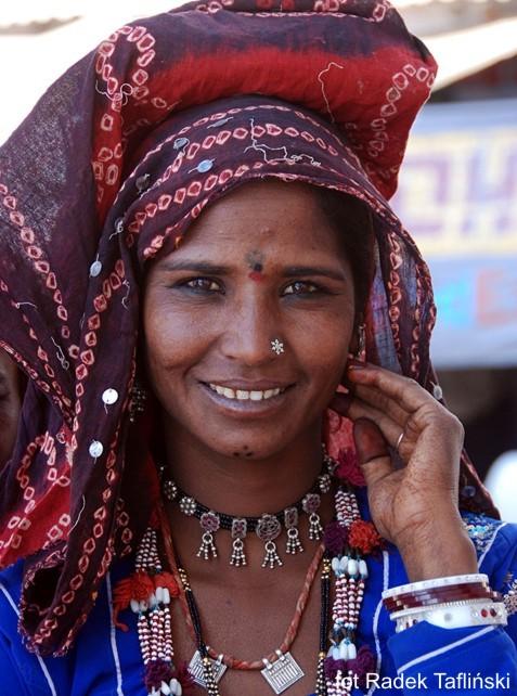 Kobieta zRadżastanu wIndiach