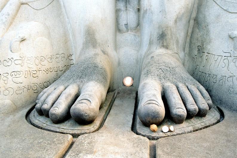 indie poludniowe Shravanabelagola stopy
