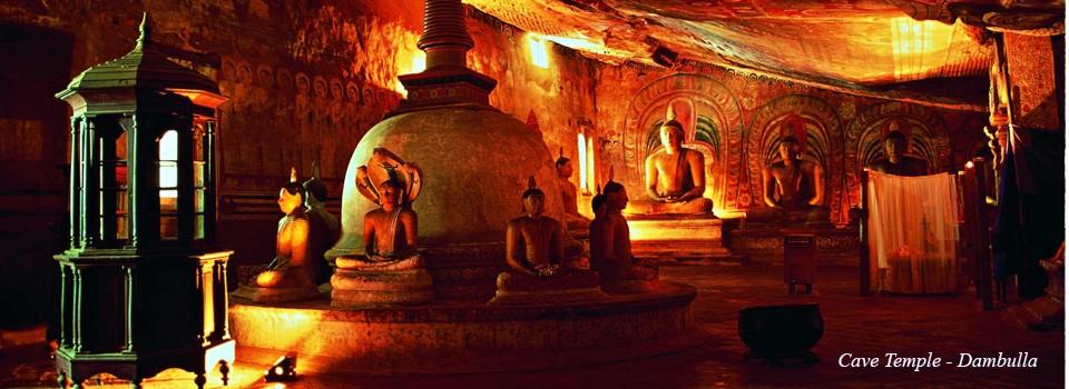 Dambulla - Groty świątynne na Sri Lanka